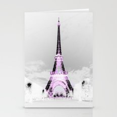 pariS Black & White + Lavender Stationery Cards