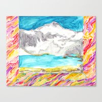 Room With The Mountain M… Canvas Print