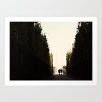 Versailles Romance Art Print