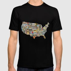 Greetings From Mens Fitted Tee Black SMALL