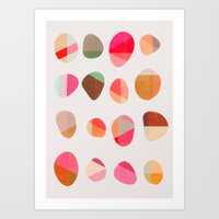 Art Print featuring Painted Pebbles 5 by Garima Dhawan