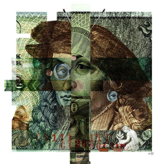 50 DM Collage Art Print