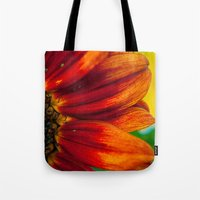 Red Sunflower Tote Bag