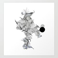 Abstract Line Drawing Art Print