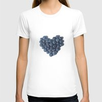 Blueberry Love Womens Fitted Tee White SMALL