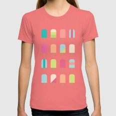 Popsicles Womens Fitted Tee Pomegranate SMALL