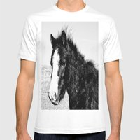 Mini Horse (2) Mens Fitted Tee White SMALL