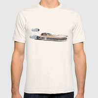 X-34 Landspeeder Mens Fitted Tee Natural SMALL