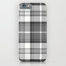 Black & White Tartan Slim Case iPhone 6s