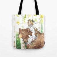 Bear Maiden Tote Bag
