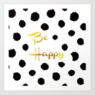 Art Print featuring Be Happy. by Haroulita