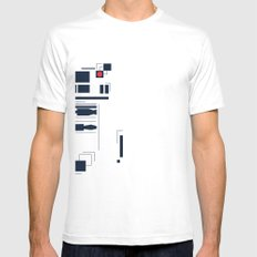 R2D2 Abstract Mens Fitted Tee SMALL White