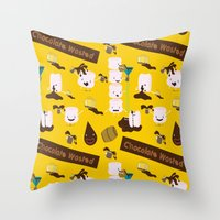 Chocolate Wasted (yellow… Throw Pillow