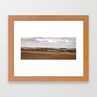 Winter in South Haven Framed Art Print