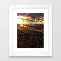Stormy  Superior Sunset Framed Art Print