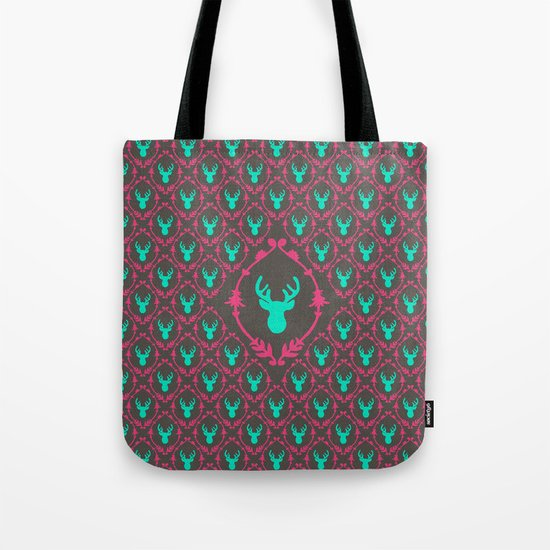 Oh Deer (teal dark) Tote Bag