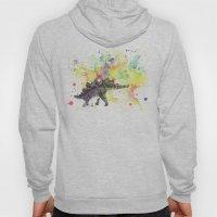 Stegosaurus Dinosaur in Splash of Color Hoody
