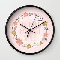 You Make My Heart Smile Wall Clock