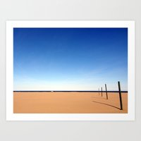 The Beach Of Valencia Is… Art Print