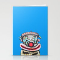 Clown With Small Adverti… Stationery Cards