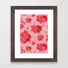 Hydrangea (doubled) Framed Art Print