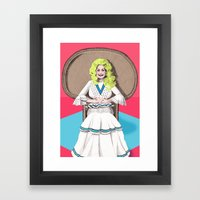 Seventies Dolly  Framed Art Print