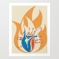 Oh little fire Art Print