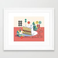 Imaginary Factory - Cake  Framed Art Print