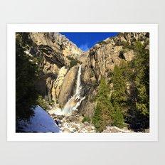 Yosemite National Park - Yosemite Falls Art Print