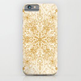 iPhone & iPod Case - Sepia Snowflake Doodle - micklyn