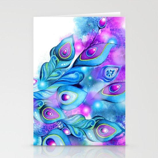 Peacock Fantasy Stationery Card