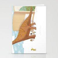 Book Dinossaur Stationery Cards