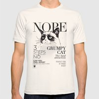 Grumpy The Cat Mens Fitted Tee Natural SMALL