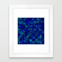 Vitrage (Blue) Framed Art Print