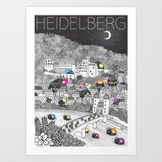 Locals Only - Heidelberg, Germany Art Print