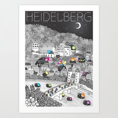 Locals Only - Heidelberg, Germany Art Print