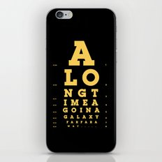 Jed Eye Chart iPhone & iPod Skin