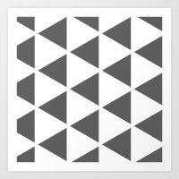 Sleyer Dark Grey On Whit… Art Print
