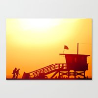 Shadows in the Sunset Canvas Print