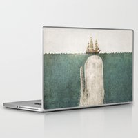 whale Laptop & iPad Skins featuring The Whale - vintage option by Terry Fan