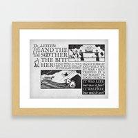 the letter! the litter! Framed Art Print