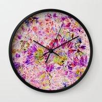 floral mosaic Wall Clock