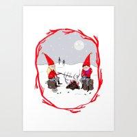 Snow and Stories Art Print