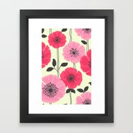 PATTERNFLOWER 2 Framed Art Print