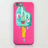 iPhone Cases featuring Melty Popsicle by Nate Bear