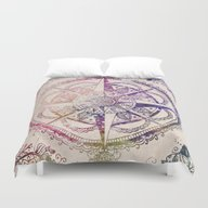Duvet Cover featuring Voyager II by Jenndalyn