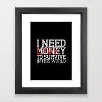 Money & Love Framed Art Print