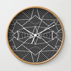 Ab Zoom Mirror Black Wall Clock
