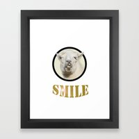 Alpaca Smile  Framed Art Print