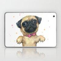Cute Pug Puppy Dog Water… Laptop & iPad Skin